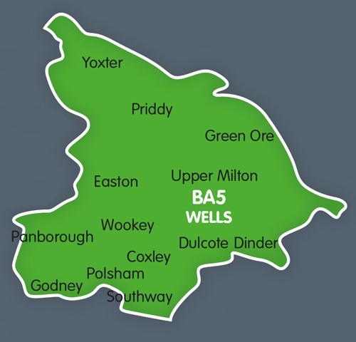 Wells distribution map