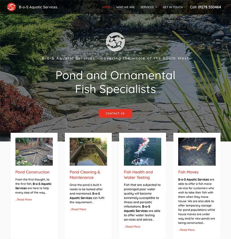 Web Design Hosting Somerset - B-o-S Aquatic Services