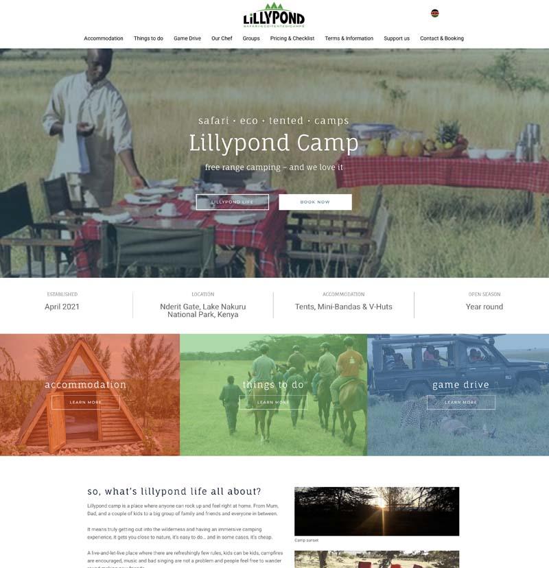 lillypond camp kenya